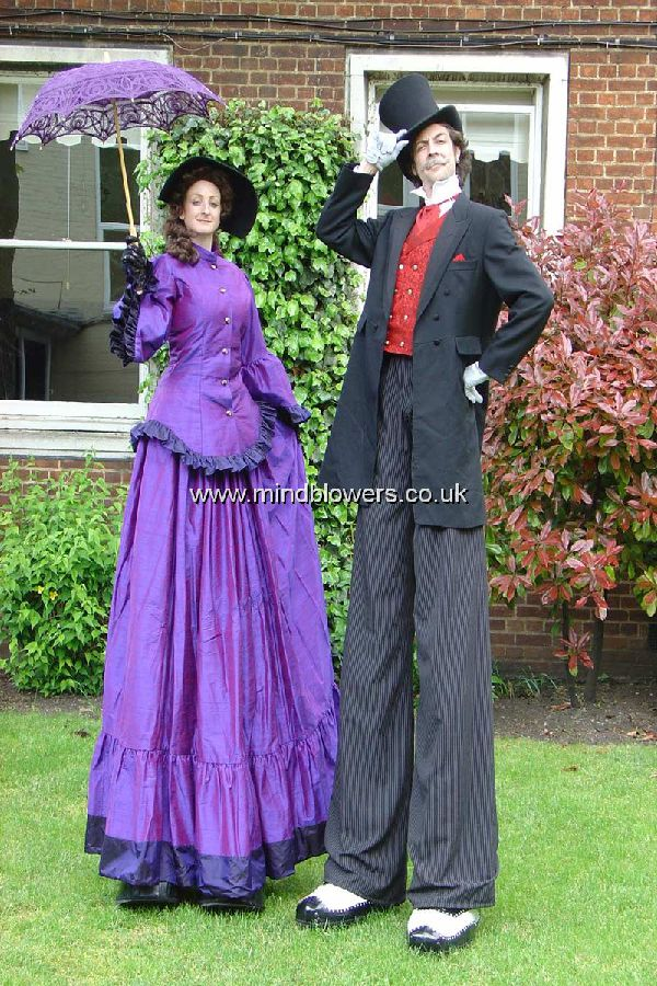 Victorian Lady & Gent Stilt Walkers