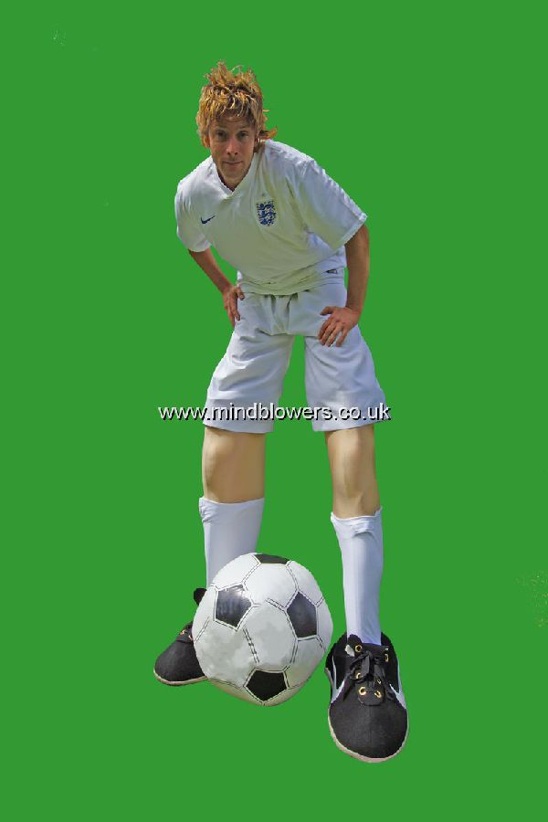 Footballer Stilt Walker