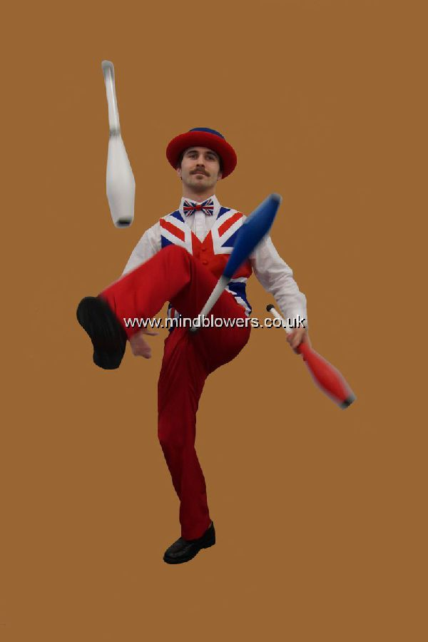 Red White and Blue Juggler