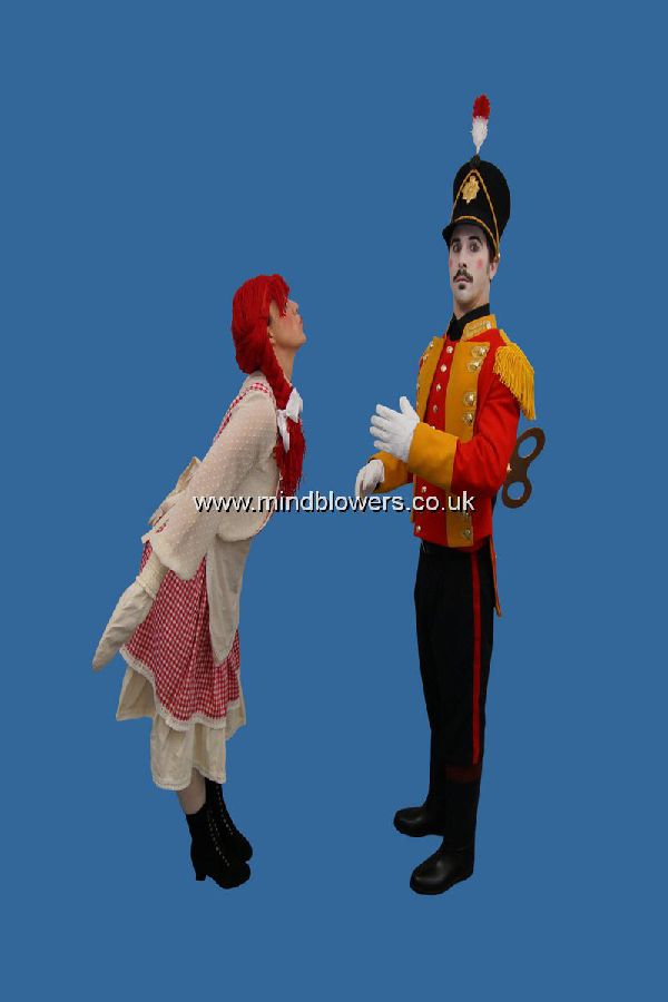 Toy Soldier and Rag Doll Human Statues